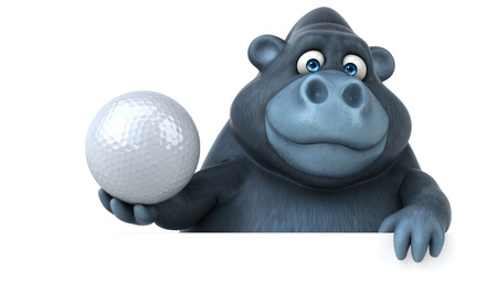 Fun Gorilla - 3D-Illustration Standard-Bild - 74147155
