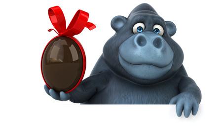 Fun Gorilla - 3D-Illustration Standard-Bild - 74147166
