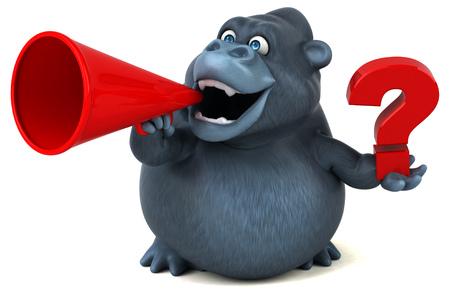 Fun Gorilla - 3D-Illustration Standard-Bild - 74150454