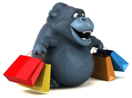 Fun Gorilla - 3D-Illustration Standard-Bild - 74150894