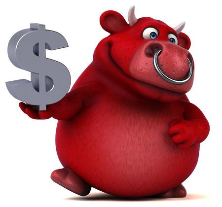beast ranch: Red bull - 3D Illustration