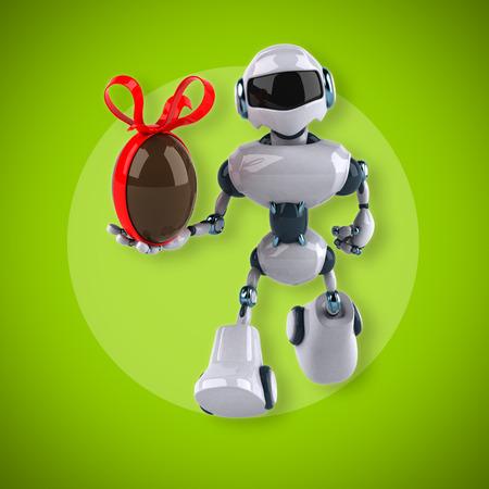 chocolate egg: Robot Stock Photo