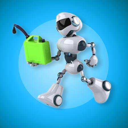 chrome: Robot Stock Photo
