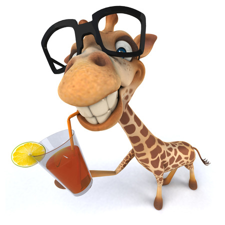 Fun giraffe Stock Photo - 77262308