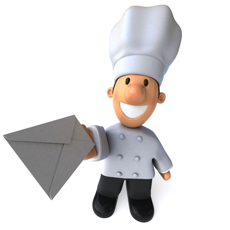 Fun chef - 3D Illustration Stok Fotoğraf - 77263002