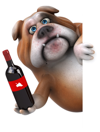 Fun bulldog - 3D Illustration Фото со стока - 77263265