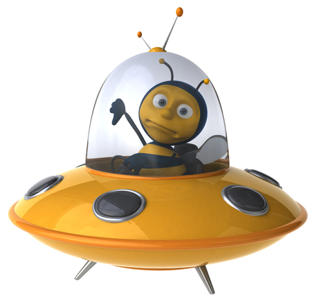 space antenna: Fun bee Stock Photo