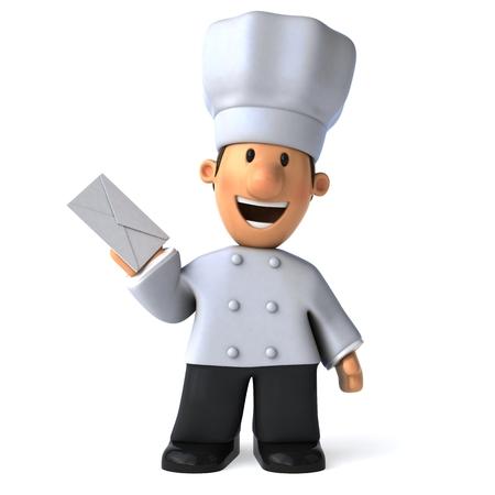 Fun chef - 3D Illustration Stok Fotoğraf - 77263843