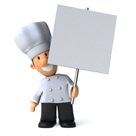 Fun chef - 3D Illustration Stok Fotoğraf - 77264122