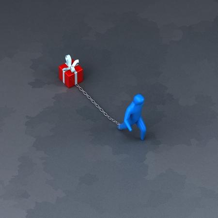 負担のシンボル - 3 D イラストレーション