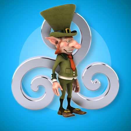 druid: Fun leprechaun - 3D Illustration