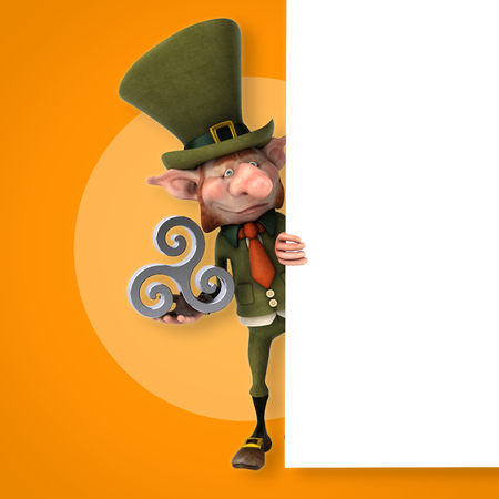 Fun leprechaun - 3D Illustration