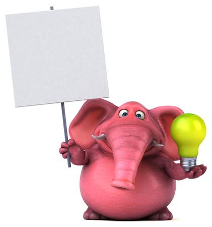 핑크 코끼리 - 3D 일러스트 레이션 스톡 콘텐츠