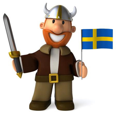 Viking - 3D Illustration Stock Photo