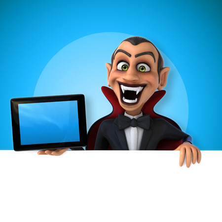 computer animation: Vampire Stock Photo