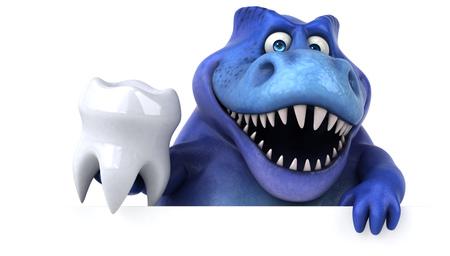 Leuke dinosaurus - 3D illustratie Stockfoto