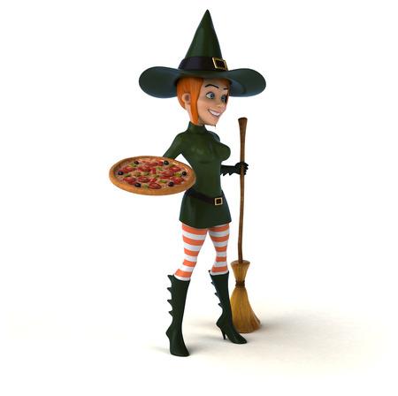 Sexy bruja - ilustración 3D