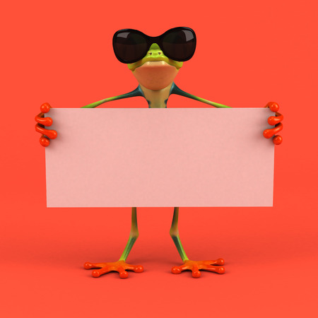 Cartoon frog - 3D Illustration