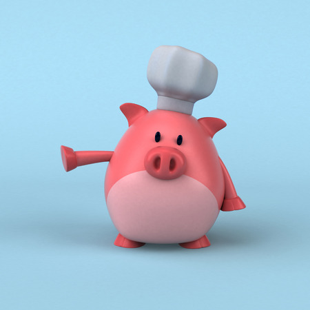 Pig chef - 3D Illustration