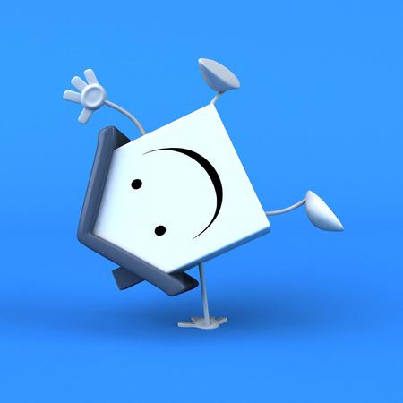 Cartoon house - 3D Illustration Stock Photo