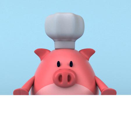 Pig chef - 3D Illustration
