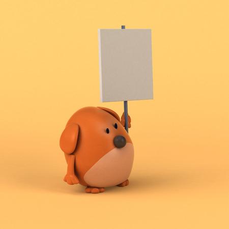 dog: Cartoon dog - 3D Illustration
