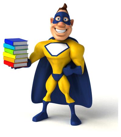 Leuke superheld Stockfoto