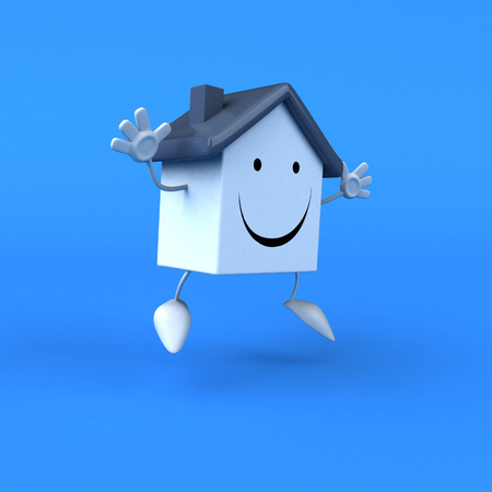 Cartoon house - 3D Illustration Stock Photo