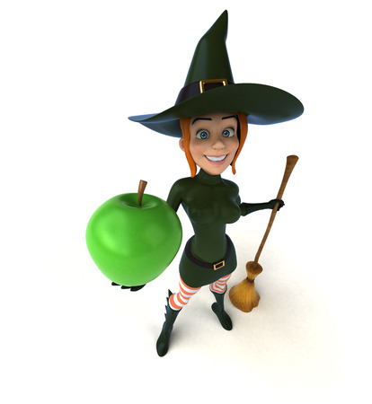 warlock: Sexy witch - 3D Illustration Stock Photo