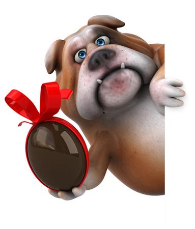 Divertido bulldog - Ilustración 3D