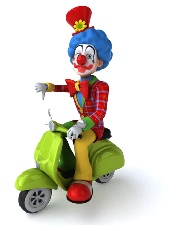 wigs: Fun clown
