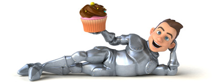 cupcakes isolated: Fun knight