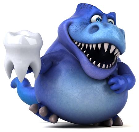 Dinosaurio de la diversión - Ilustración 3D Foto de archivo - 80782952