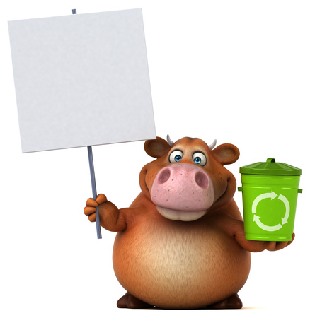 Fun cow - 3D Illustration Stock Illustration - 80764487
