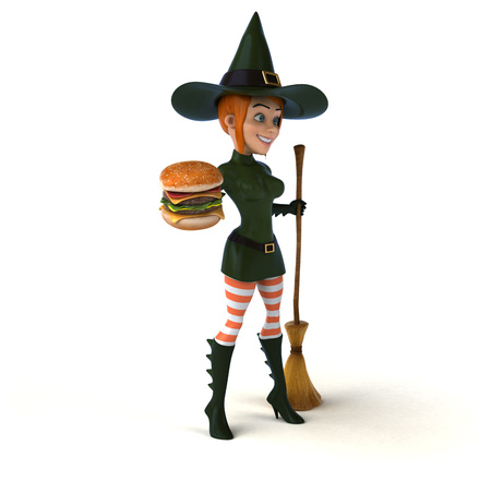 irish woman: Sexy witch - 3D Illustration Stock Photo