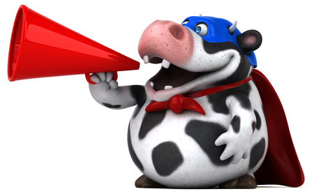 beast ranch: Super cow - 3D Illustration Stock Photo