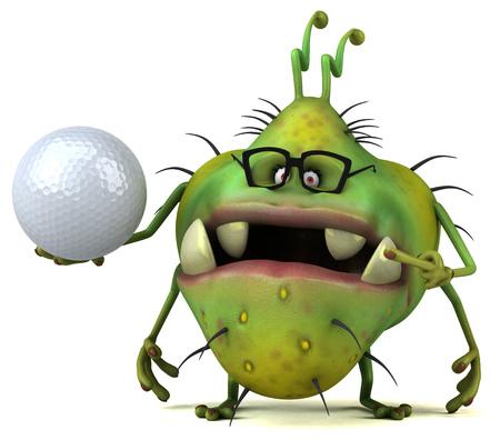 deportes caricatura: Germen de la diversión - ilustración 3D Foto de archivo