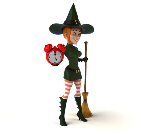 sorceress: Sexy witch - 3D Illustration Stock Photo