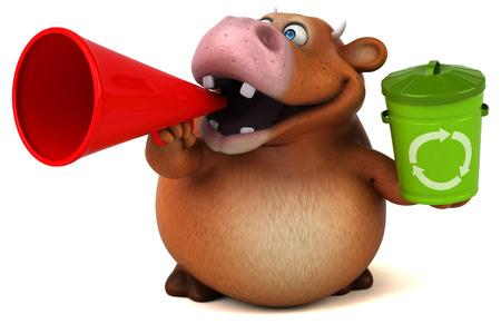 pastoral: Fun cow - 3D Illustration
