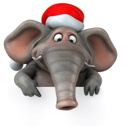Fun elephant - 3D Illustration Фото со стока