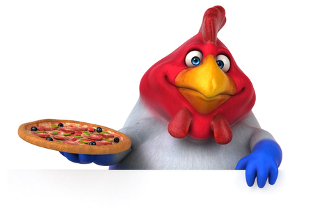 country: Fun chicken - 3D Illustration