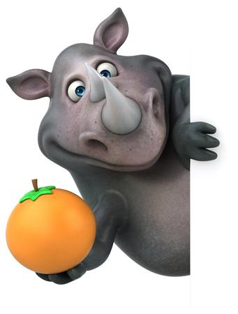 재미 코뿔소 - 3D 그림