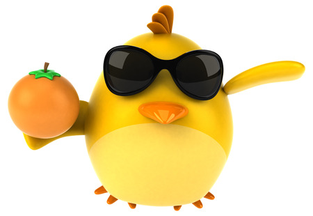 Yellow bird - 3D Illustration Imagens