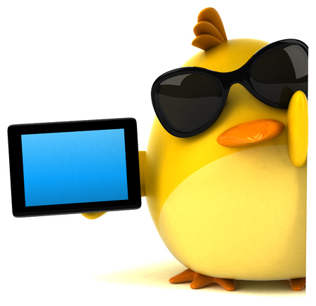 Gele vogel - 3D illustratie Stockfoto