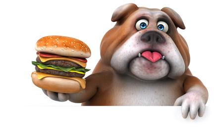upset: Fun bulldog - 3D Illustration
