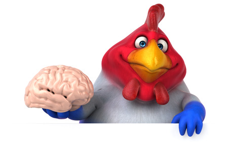 philosophic: Fun chicken - 3D Illustration
