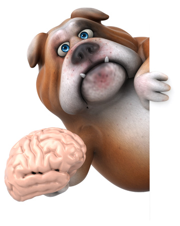 philosophic: Fun bulldog - 3D Illustration