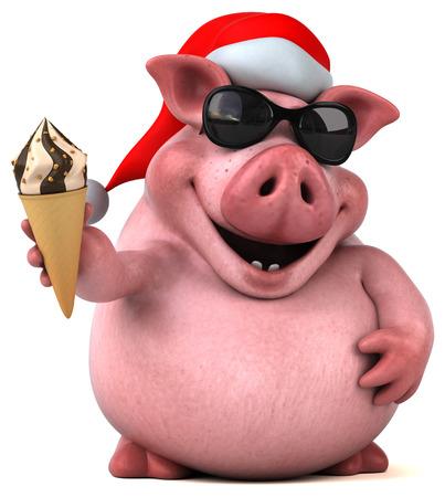 Cerdo de la diversión - Ilustración 3D Foto de archivo - 80828272