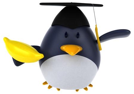 Fun penguin - 3D Illustration