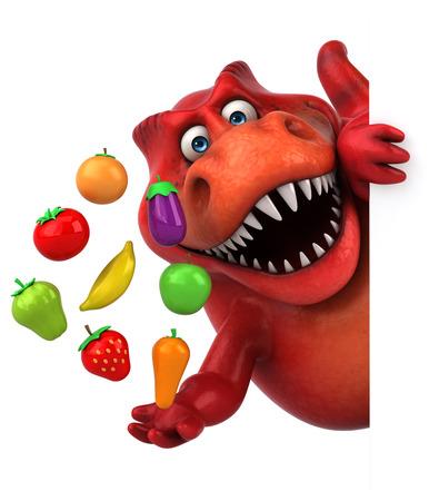 재미있는 공룡 - 3D 일러스트 레이션 스톡 콘텐츠